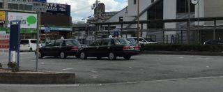 長時間客待ちをする効率の悪いタクシー