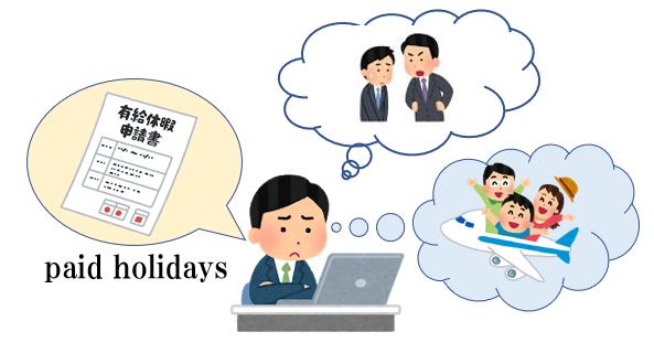 有休休暇を考える人のイラスト